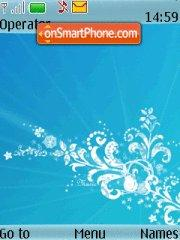 Abstract Blue tema screenshot