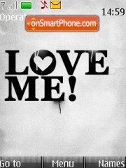 Скриншот темы Love Me
