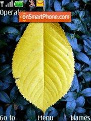 Yellow Leaf theme screenshot