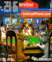 Poker Dogs theme screenshot