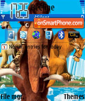 Скриншот темы Ice Age 03