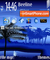 Blue 06 tema screenshot