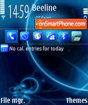Blue Vision theme screenshot