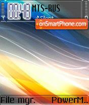 Abstract Waves S60v2 theme screenshot