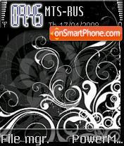 Black Flowers S60v2 es el tema de pantalla