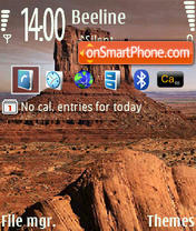 Desert and Rock tema screenshot