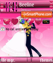 Animated Romance s60v3 theme screenshot