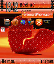Heart Animated s60v3 theme screenshot