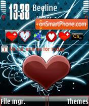 Heart beats animated s60v3 theme screenshot