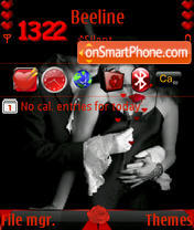 Luv wit rose animated s60v3 theme screenshot