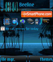 Night animated s60v3 theme screenshot