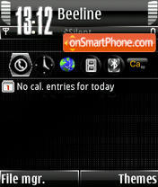 Nokia Animated s60v3 theme screenshot