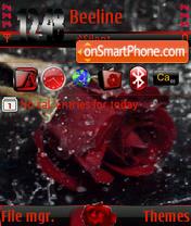 Скриншот темы Rose animated s60v3