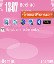 Pink Nokia theme screenshot