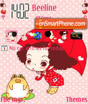 Cutegirl Cartoons theme screenshot