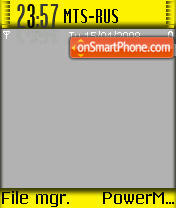 Yellow Greytheme theme screenshot