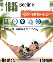 RelaxingCow tema screenshot