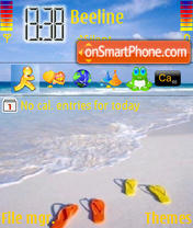 Beach theme screenshot