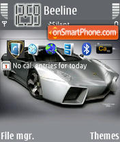 Lamborghini Reventon theme screenshot