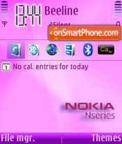 Nseries pink tema screenshot