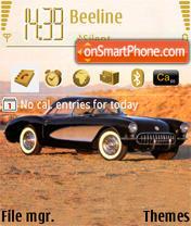 Скриншот темы Chevrolete Corvette c1