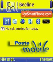Скриншот темы Poste Mobile