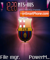 F.C. Barcelona theme screenshot