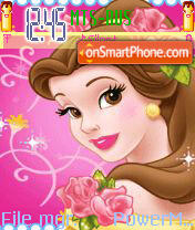 Princess Belle Animated theme screenshot