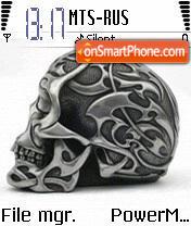 Gray Skull 01 tema screenshot