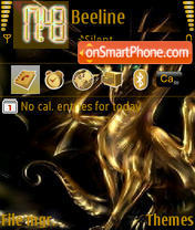 Gold Dragon theme screenshot