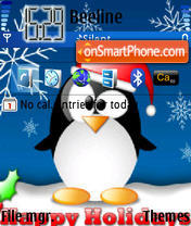Holiday Pinguin tema screenshot