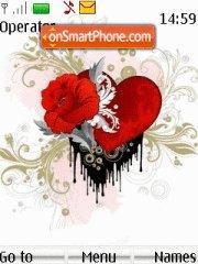 Abst Love heart with flower tema screenshot