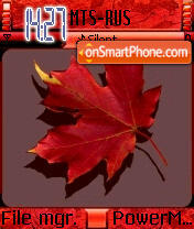 Red Leaf theme screenshot