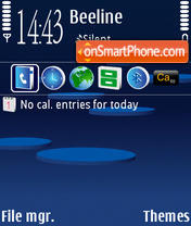 3D Nokia theme screenshot