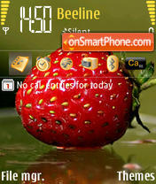 Strawberry theme screenshot