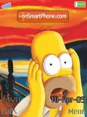 Скриншот темы Crazy Homer