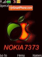 Nokia 7373 Music tema screenshot
