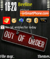 Out Of Order theme screenshot