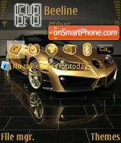 Скриншот темы Mercedes SLR Gold