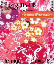 Floral S60v2 theme screenshot