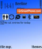 Fresh Blue theme screenshot
