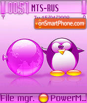 Pink Tux 01 theme screenshot