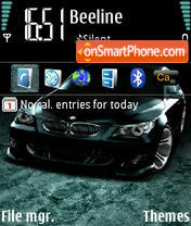 Bmw M5 Black theme screenshot