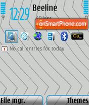 Скриншот темы Nseries Light Grey Blue v1