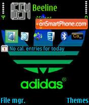 Adidas Theme es el tema de pantalla