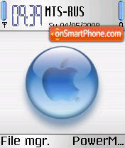 Apple Aqua S60v2 theme screenshot