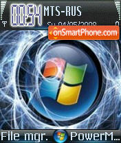 Blue Vista S60v2 theme screenshot