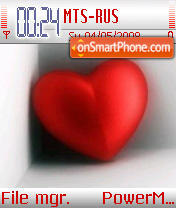 Love Heart tema screenshot