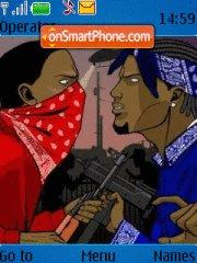 Bloods vs. Crips theme screenshot