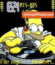 Скриншот темы Simpsons Homer DJ